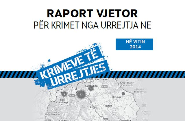 Raport vjetor për krimet nga urrejtja në 2014 vitin
