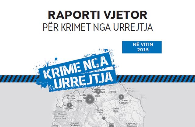 Raport vjetor për krimet nga urrejtja në 2015 vitin