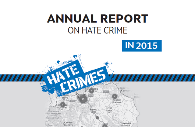 Hate crimes in the Republic of Macedonia - 2015
