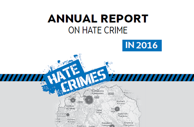 Hate crimes in the Republic of Macedonia - 2016