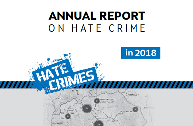 Hate crimes in the Republic of Macedonia - 2018