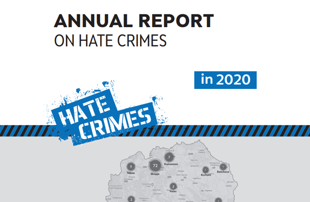 Annual report on hate crimes in 2020
